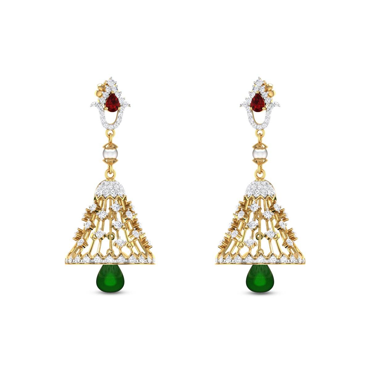 Chamaelaucium Diamond Earrings