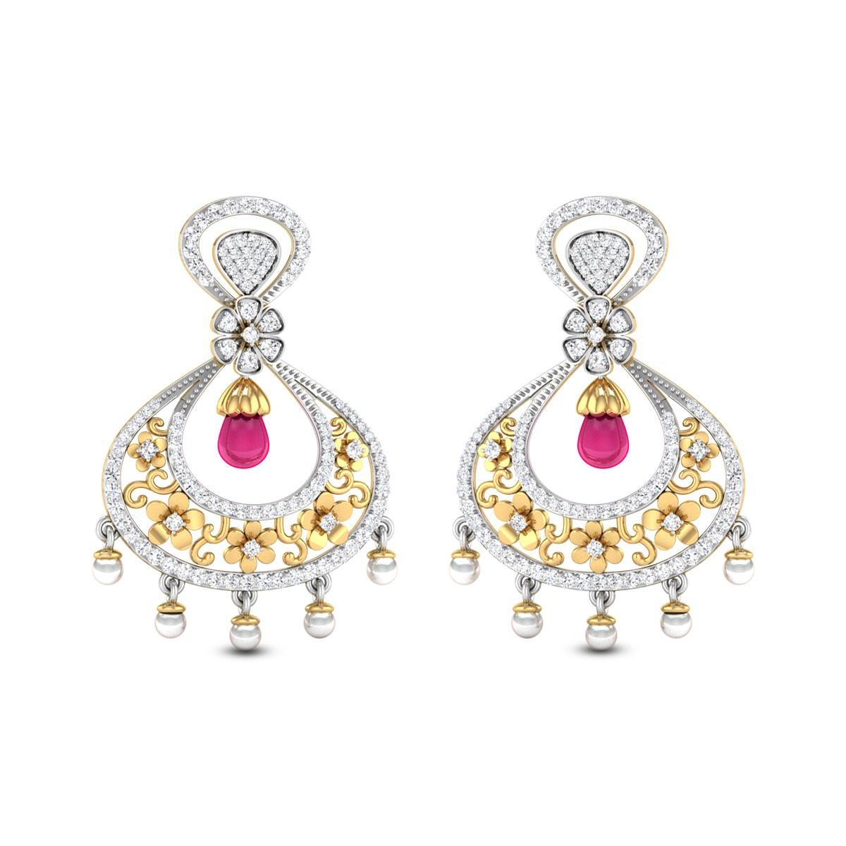 Dendritic Eight Diamond Earrings