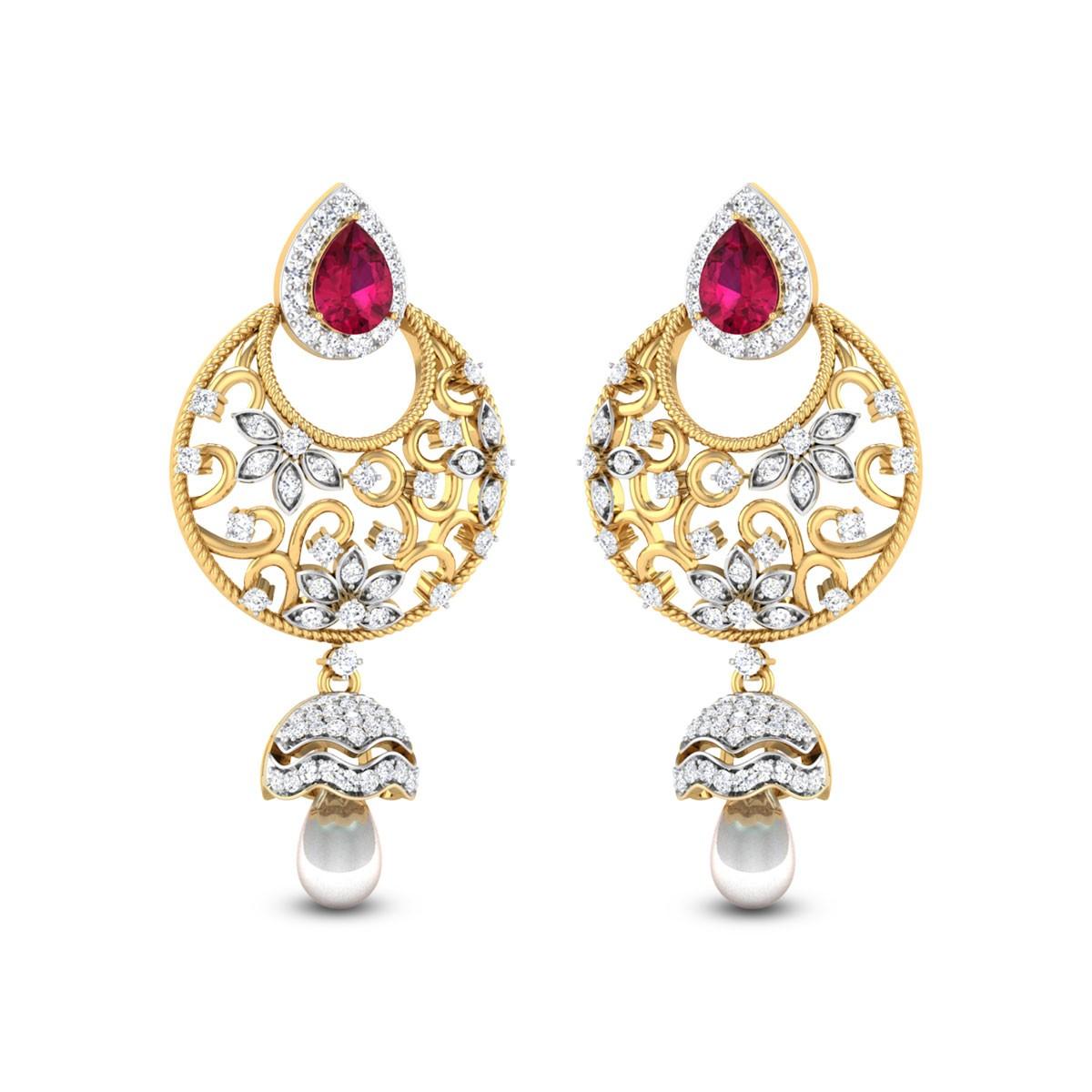 Floral Creeper Diamond Earrings