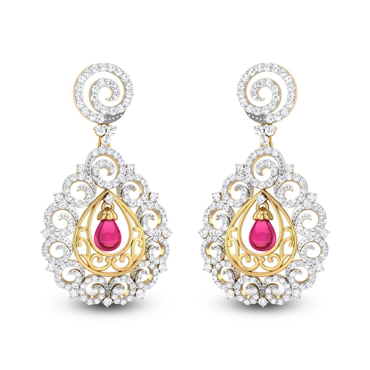 Blanchefleur Diamond Earrings