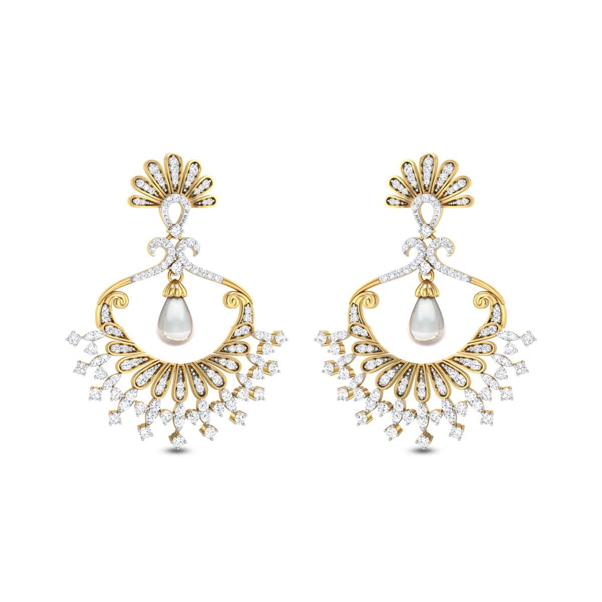 Raising Sun Diamond Earrings