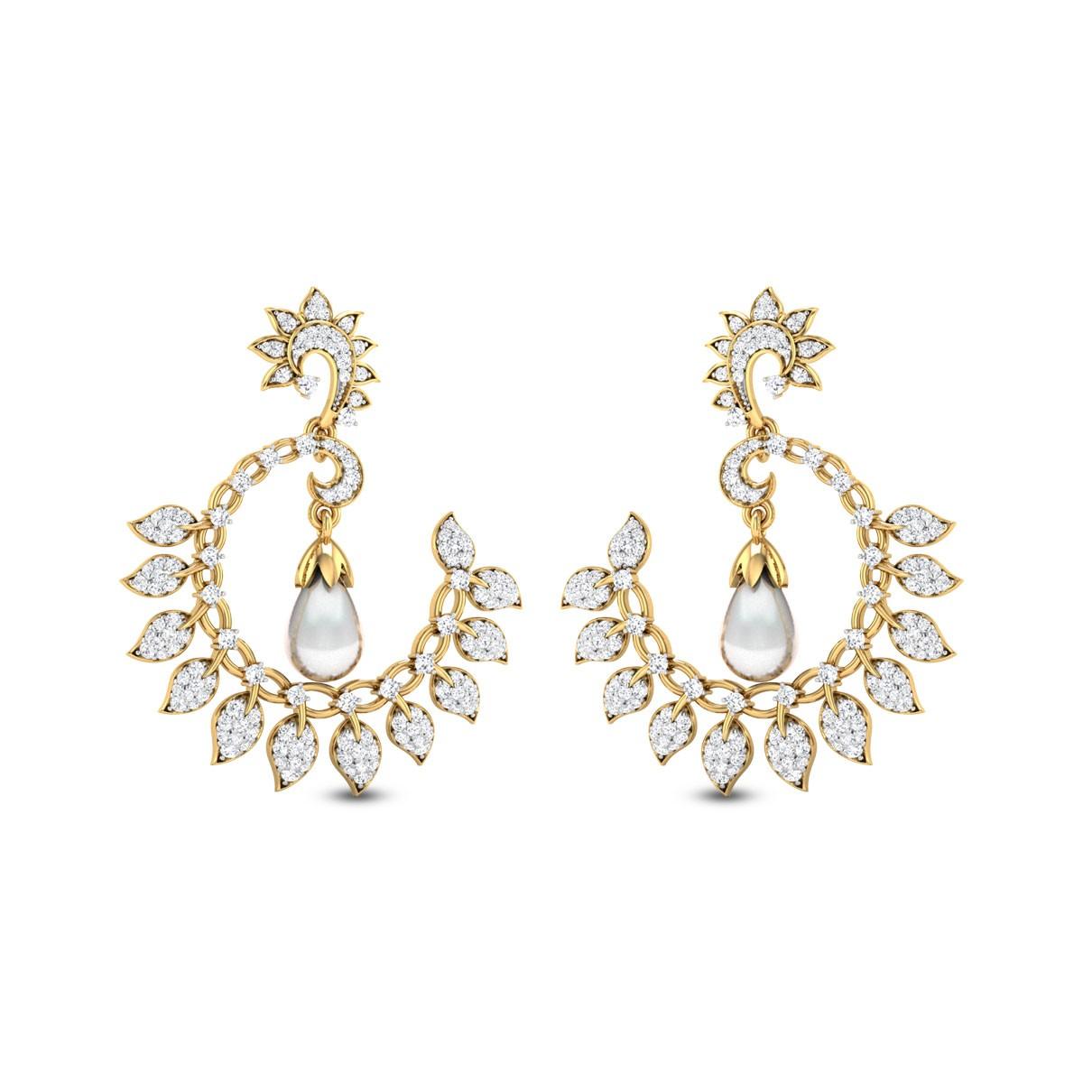 Leafy Leilani Diamond Earrings