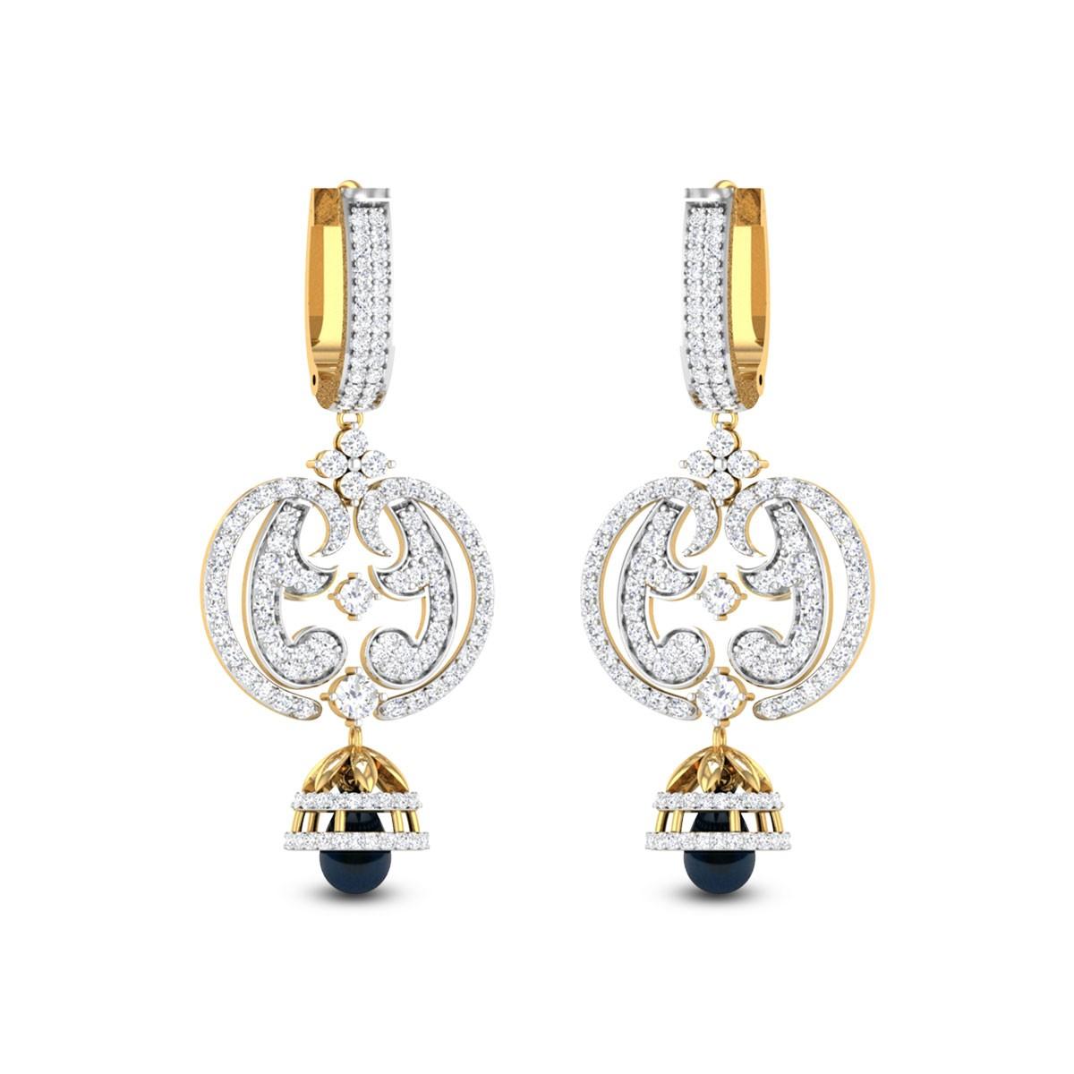 Anika Sapphire Drop Hoop Earrings