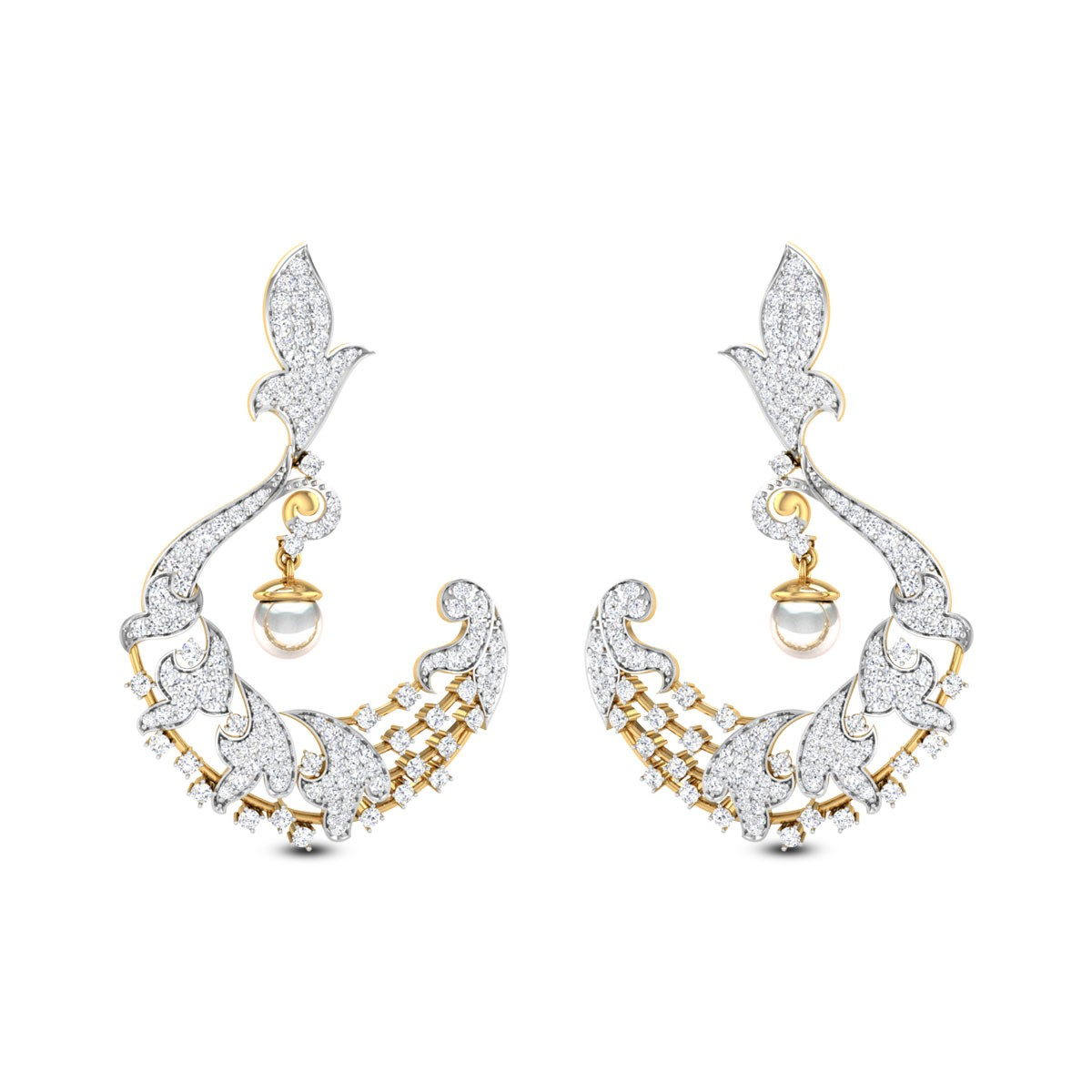 Ishana Pearl Drop Chandelier Earrings