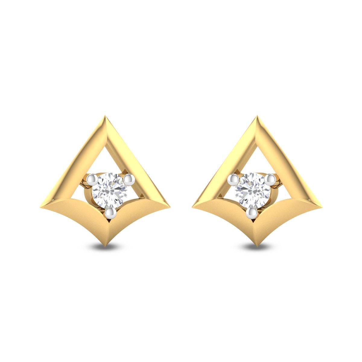 Kirati Solitaire Stud Earrings