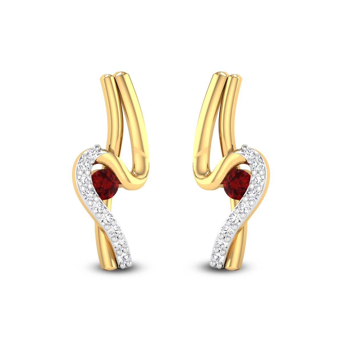Pragalbha Ruby Stud Earrings
