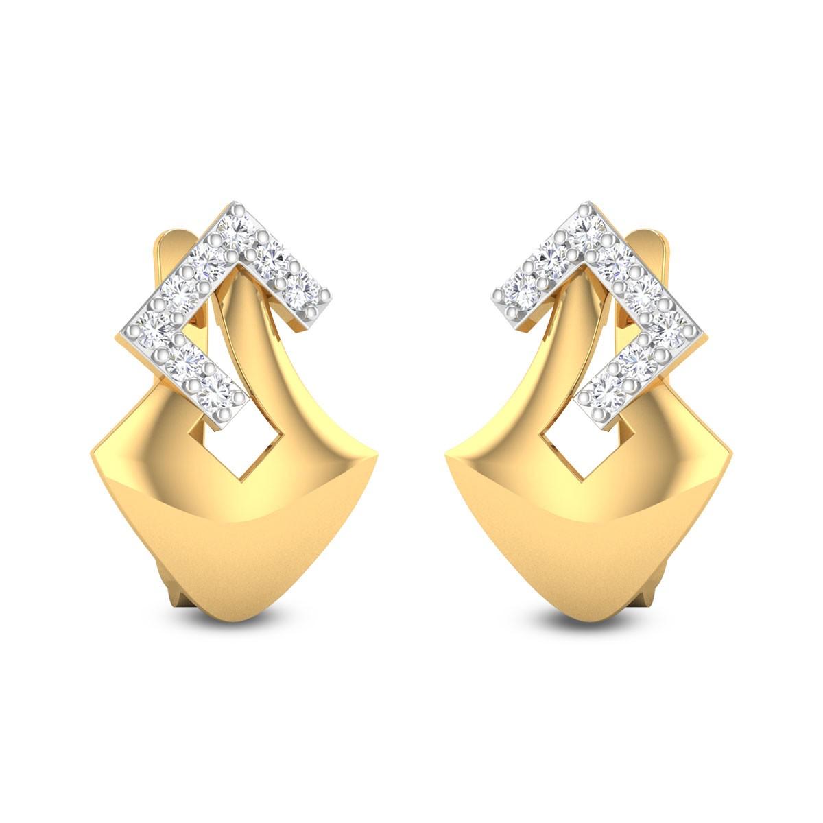 Sadhabuja Diamond Stud Earrings