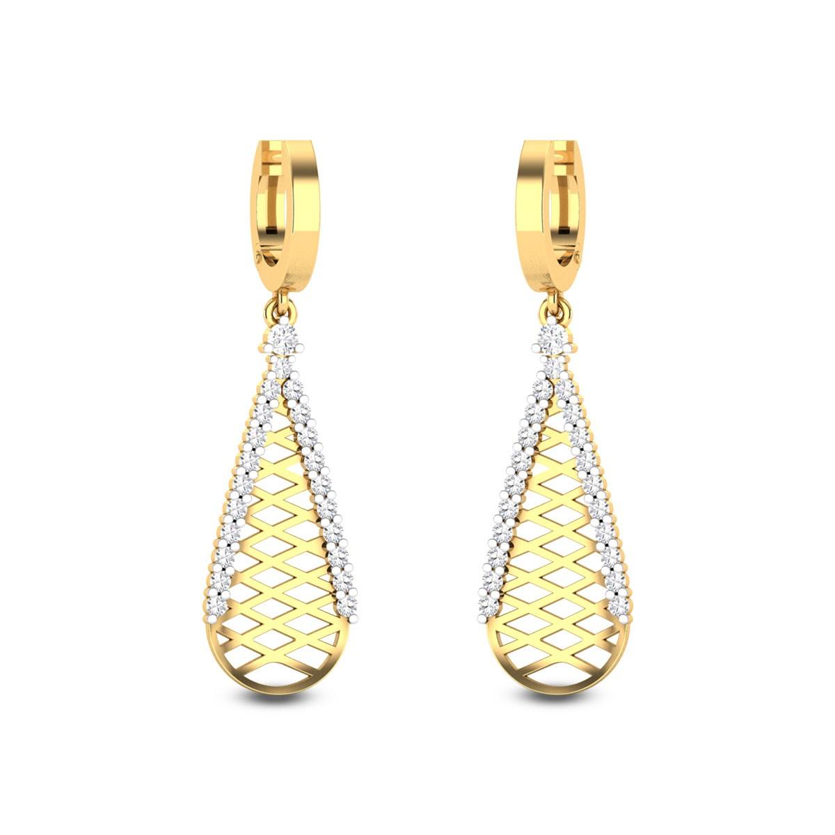 Tarita Diamond Hoop Earrings