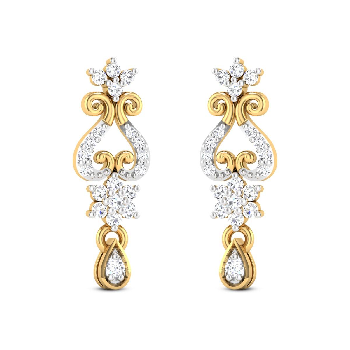Toshini Diamond Hanging Earrings