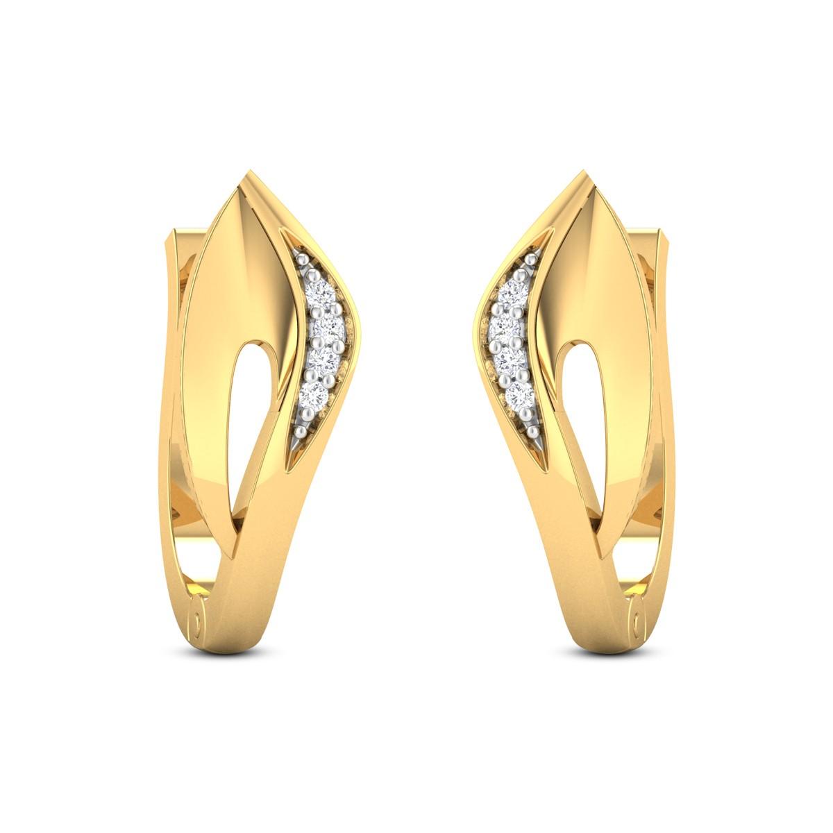 Tvarita Diamond Hoop Earrings