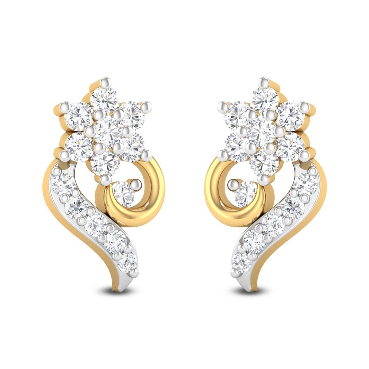 Star Chank Diamond Stud Earrings
