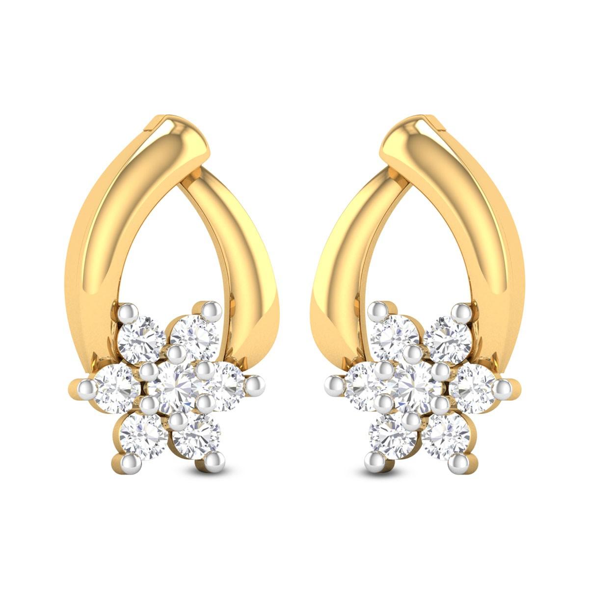 Anirvinya Diamond Stud Earrings
