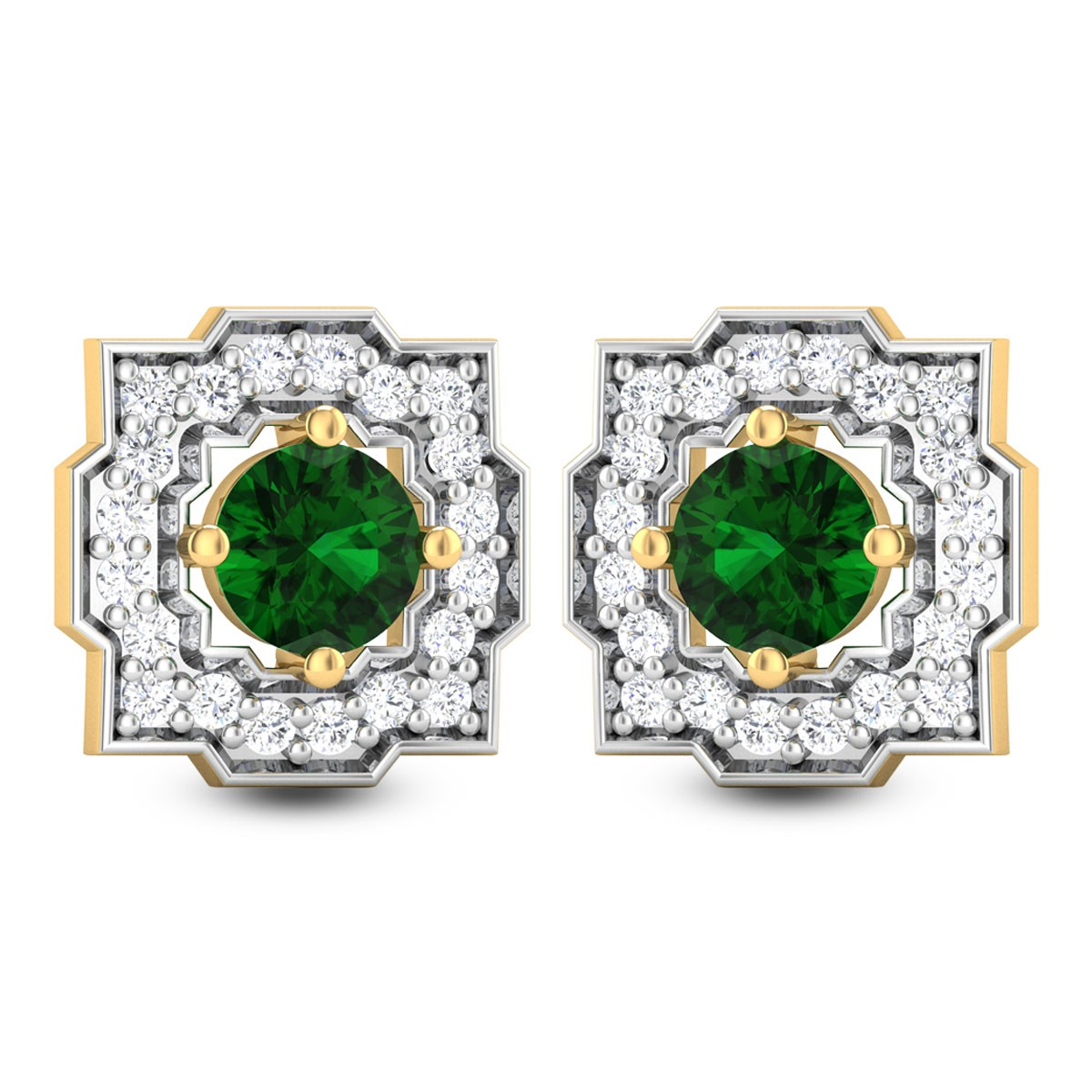 Haima Emerald Stud Earrings