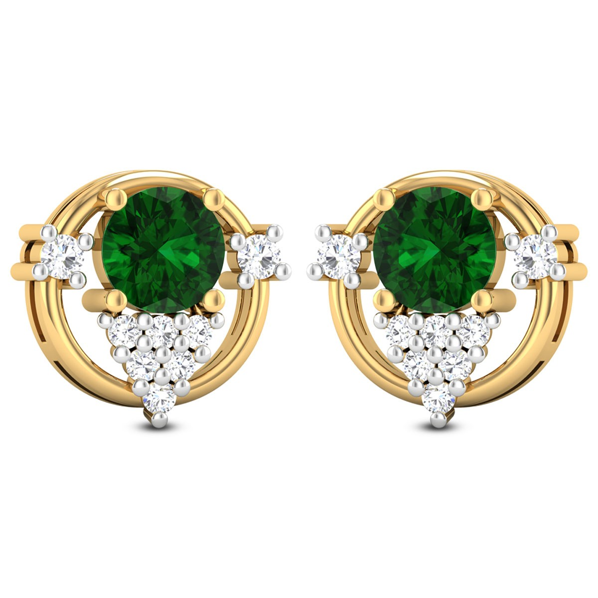 Laasya Emerald Stud Earrings