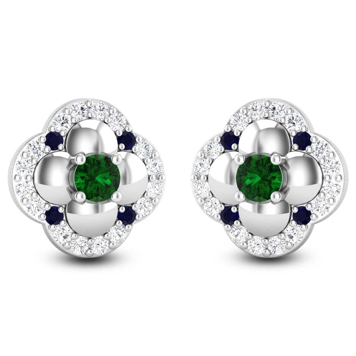 Talea Floral Diamond Stud Earrings