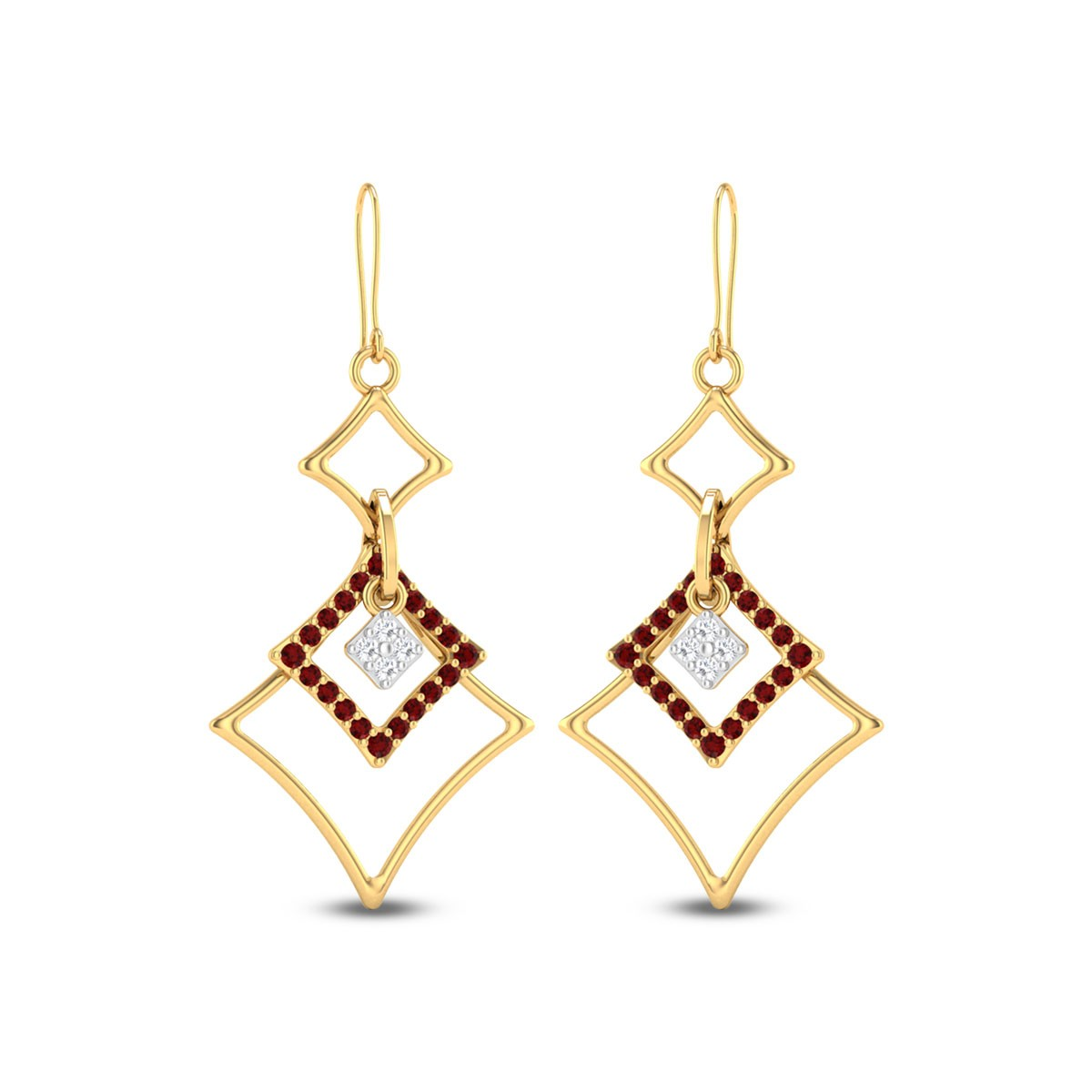 Andhaka Geons Hanging Earrings