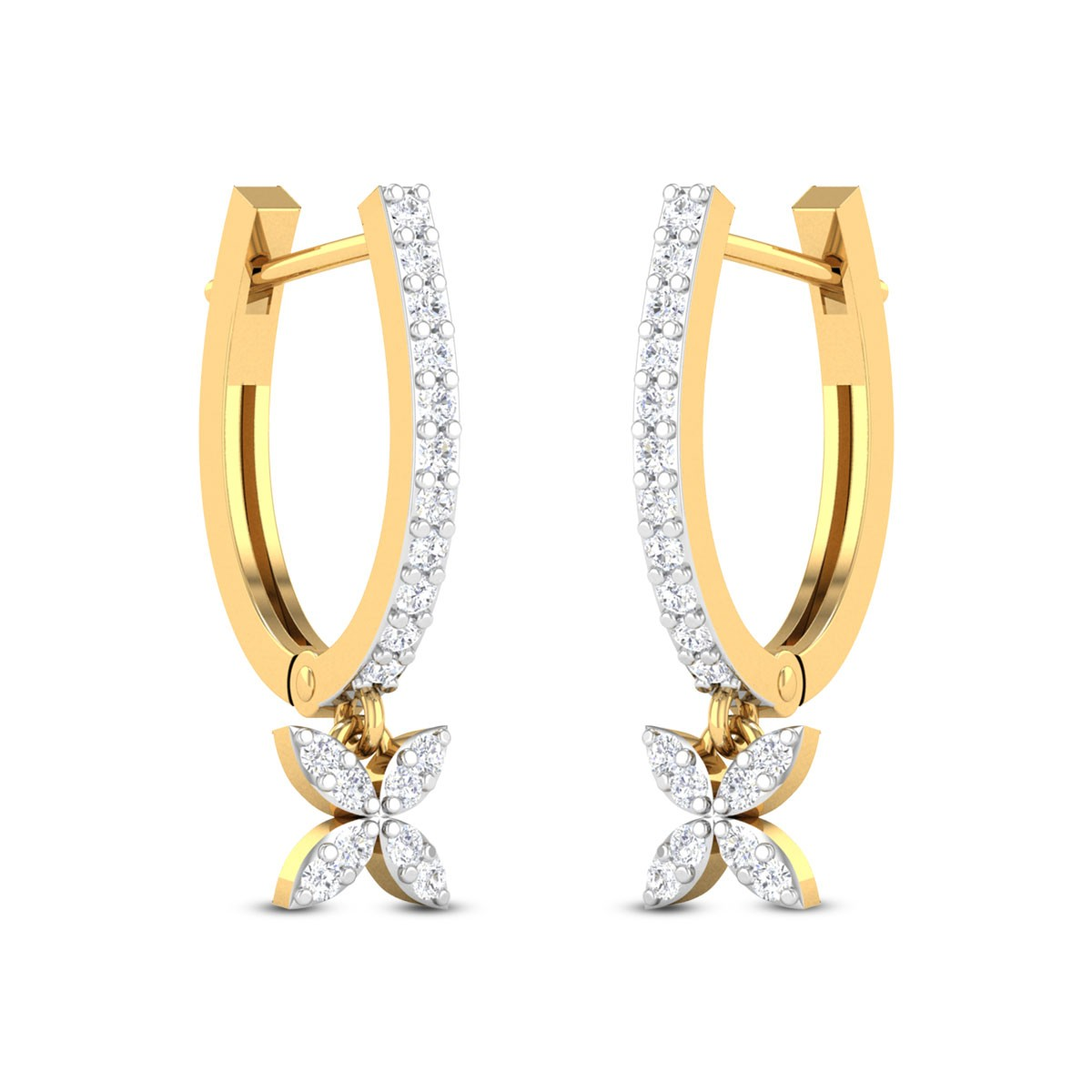 Easton Diamond Hoop Earrings