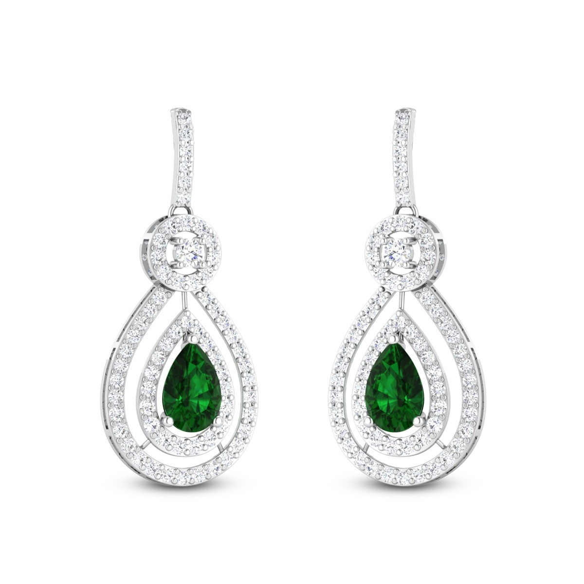 Hadley Diamond Hanging Earrings