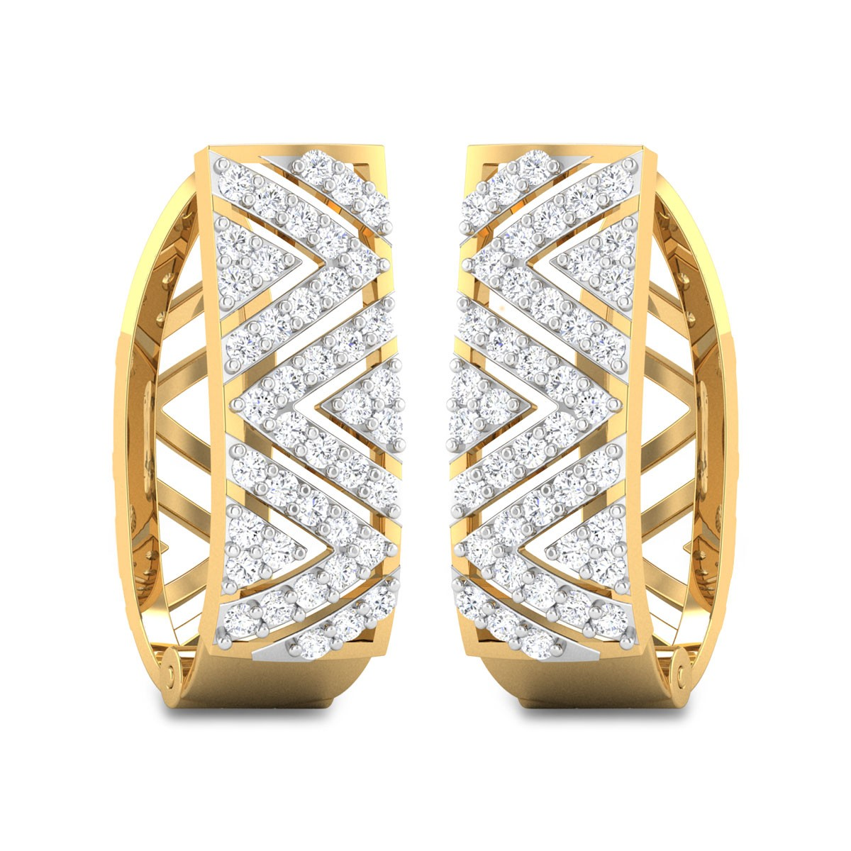 Griffith Diamond Hoop Earrings