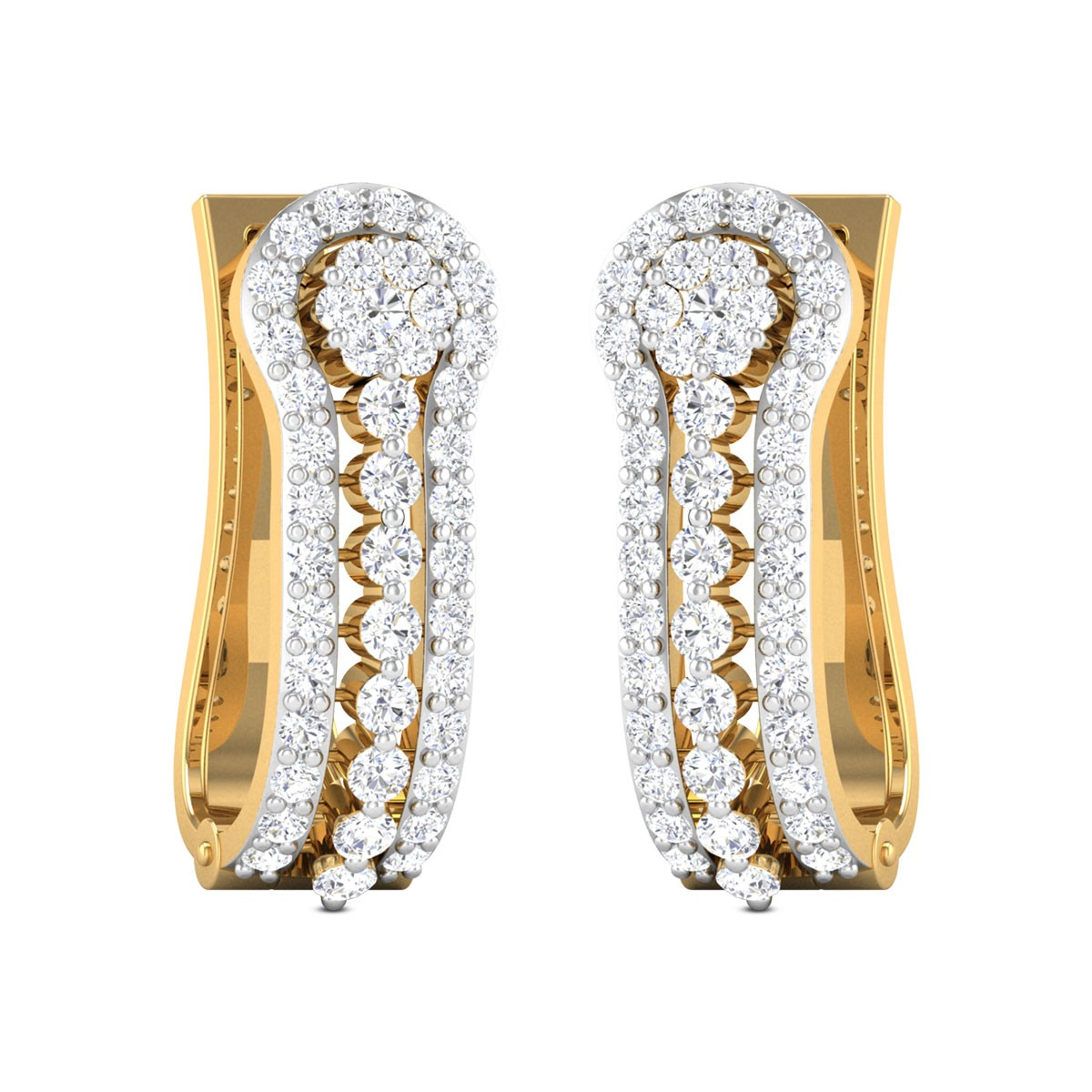 Casimir Diamond Hoop Earrings