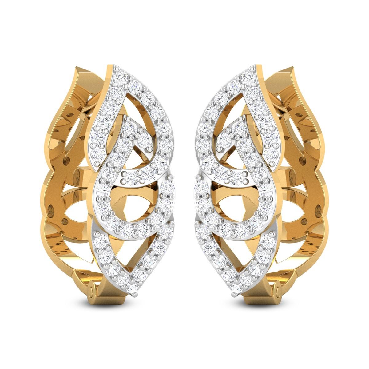 Calloway Diamond Hoop Earrings