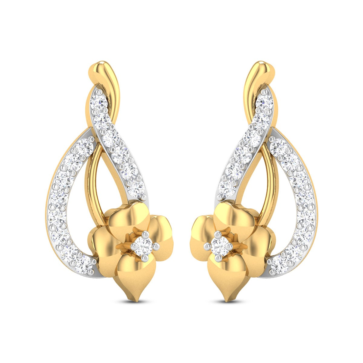 Tanaquil Diamond Floral Earring