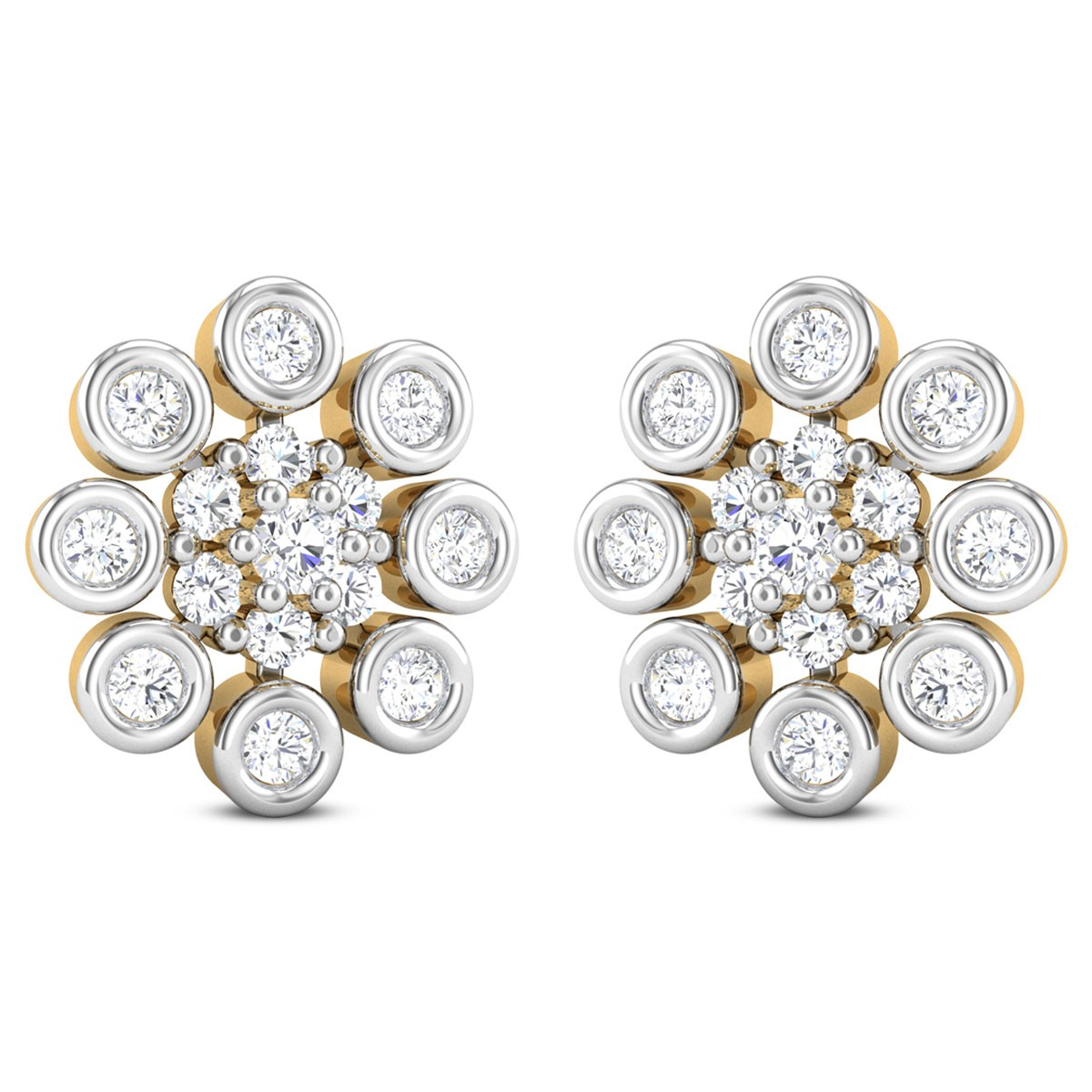 Bellamy Diamond Stud Floral Earring