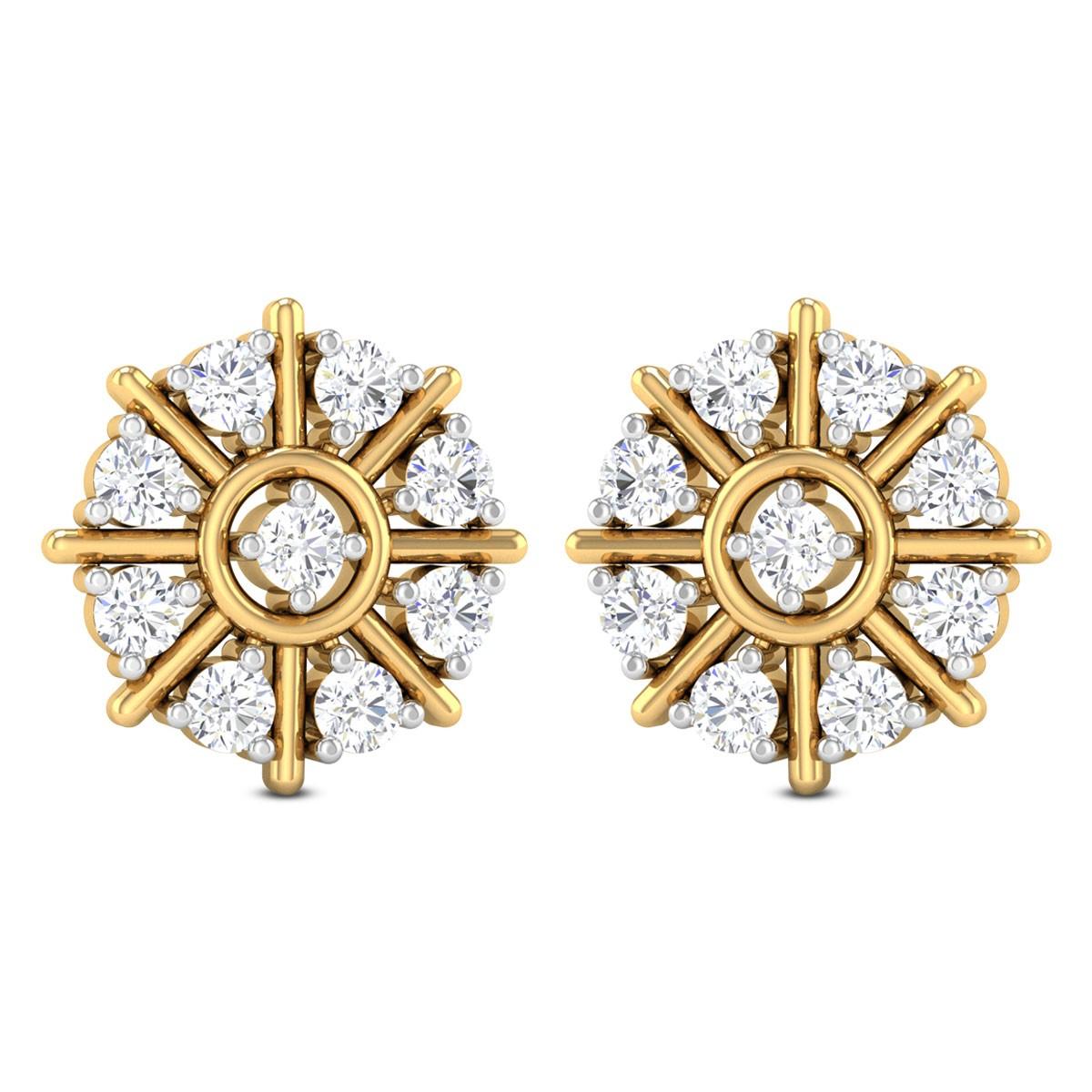 Amabel Floral Diamond Stud Earring