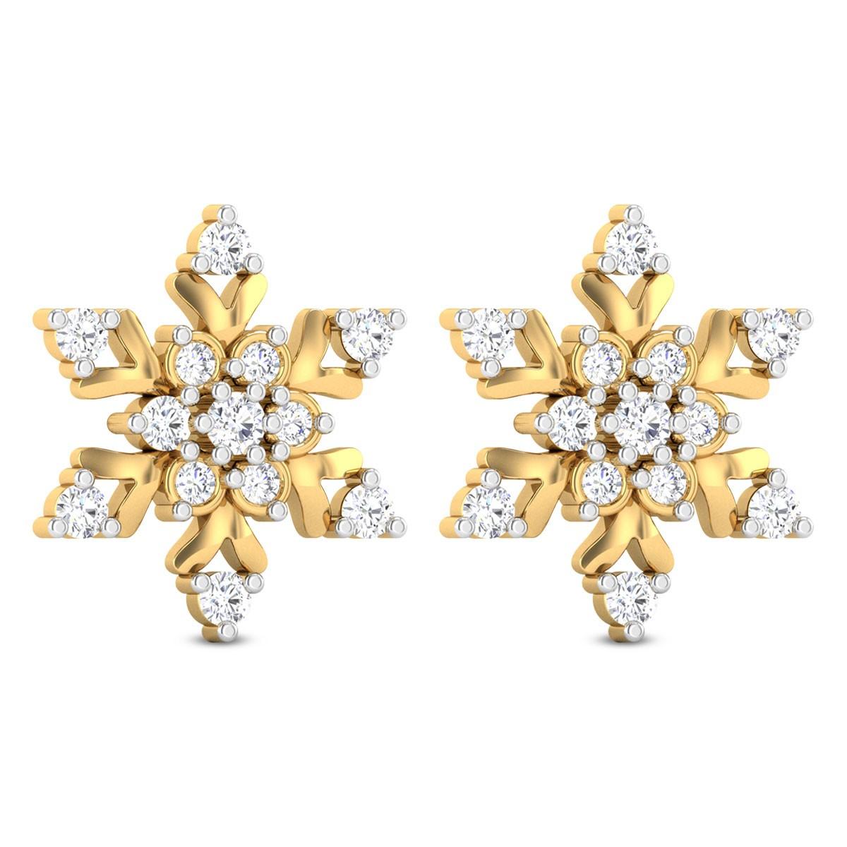Royce Floral Diamond Stud Earrings