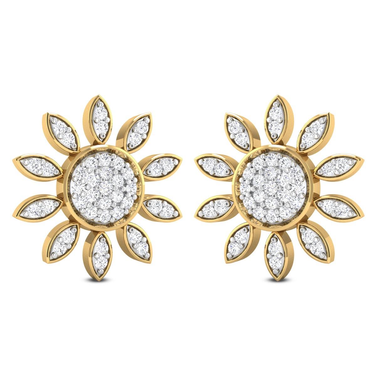 Ramsey Floral Diamond Stud Earrings
