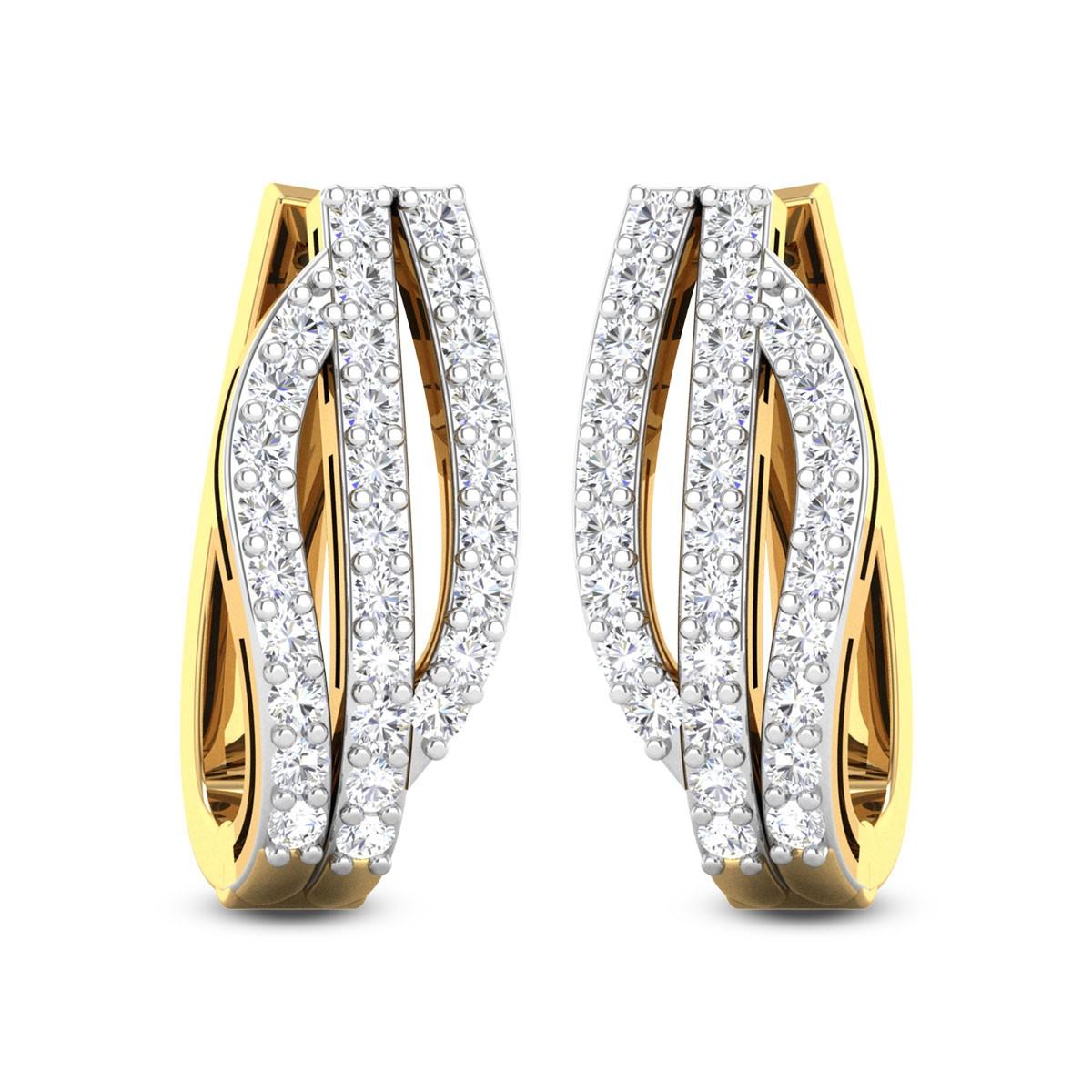 Elvis Diamond Hoop Earrings