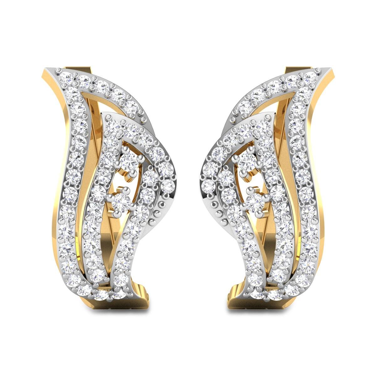 Donte Diamond Hoop Earrings