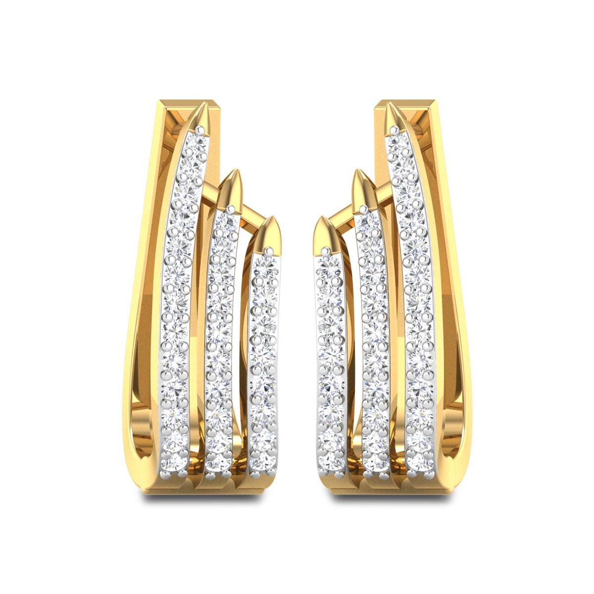 Darryl Diamond Hoop Earrings