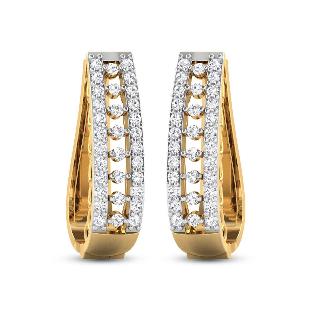 Demarcus Diamond Hoop Earrings