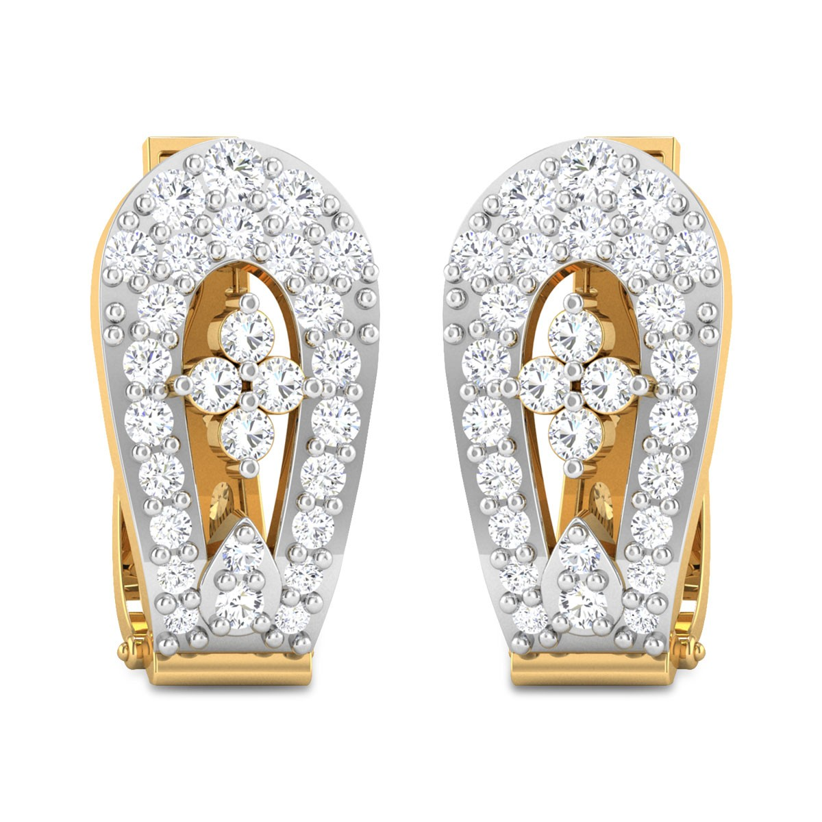 Brecken Diamond Hoop Earrings