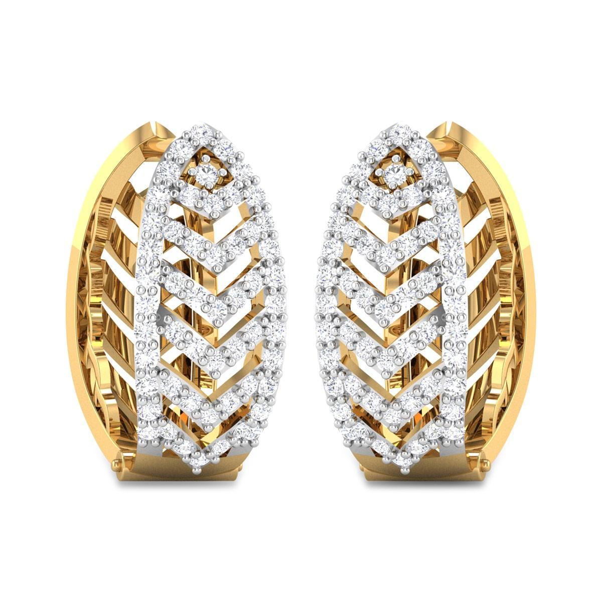 Brysen Diamond Hoop Earrings