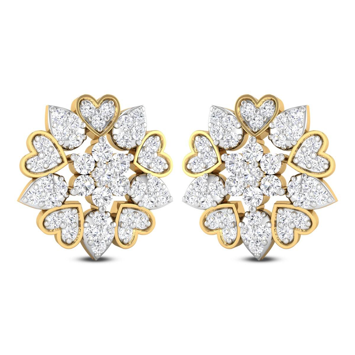 Anders Floral Diamond Stud Earrings