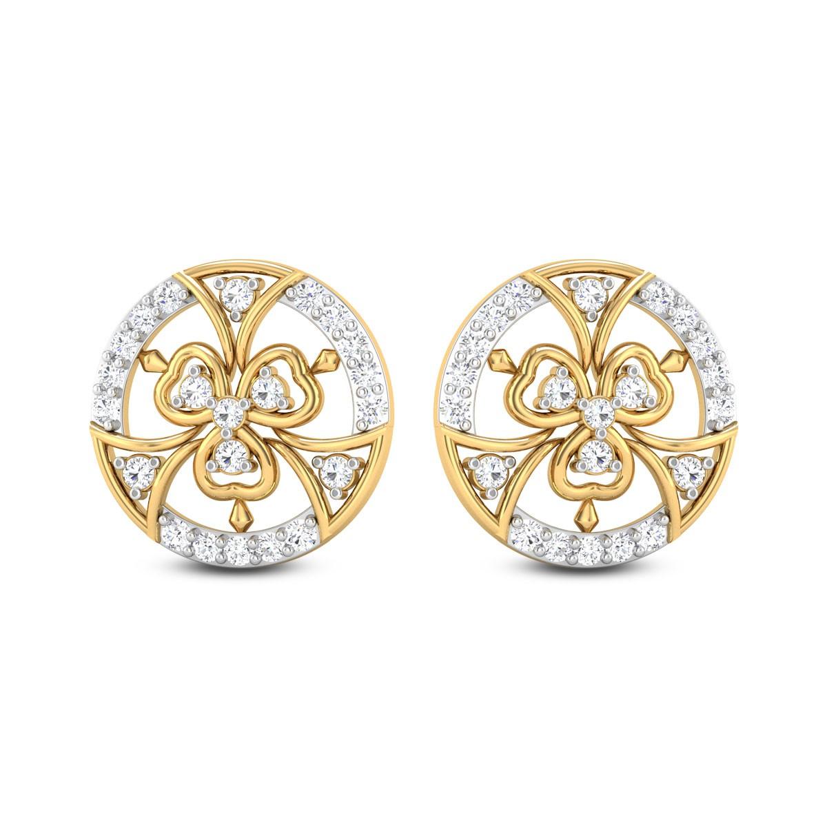 Yani Diamond Stud Earrings