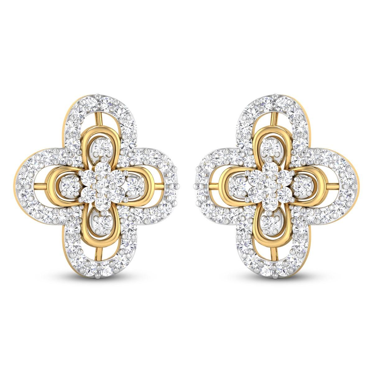 Xael Diamond Stud Earrings