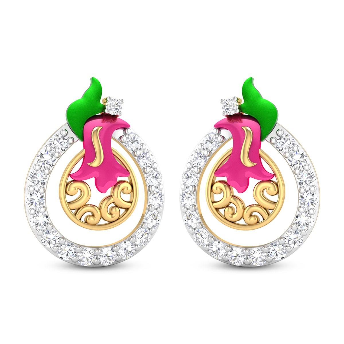 Laken Diamond Stud Earrings