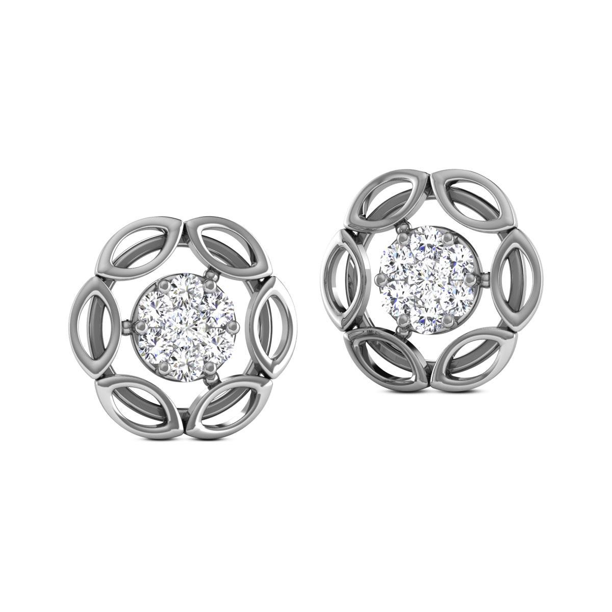 Chiragi Diamond Stud Floral Earrings