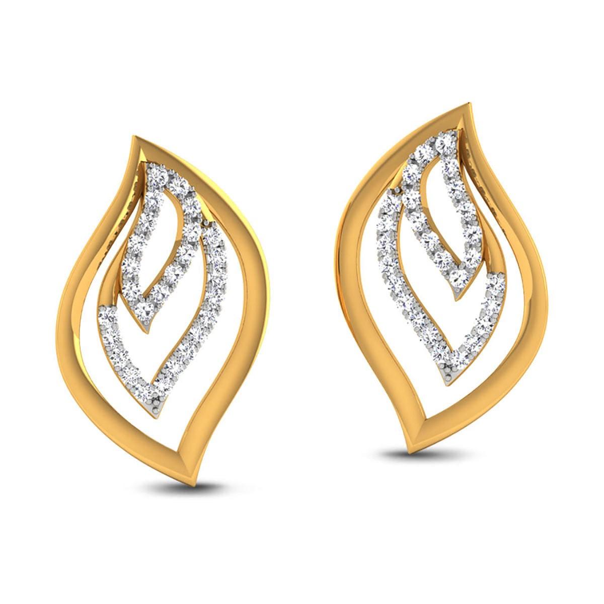 Charula Diamond Stud Earrings
