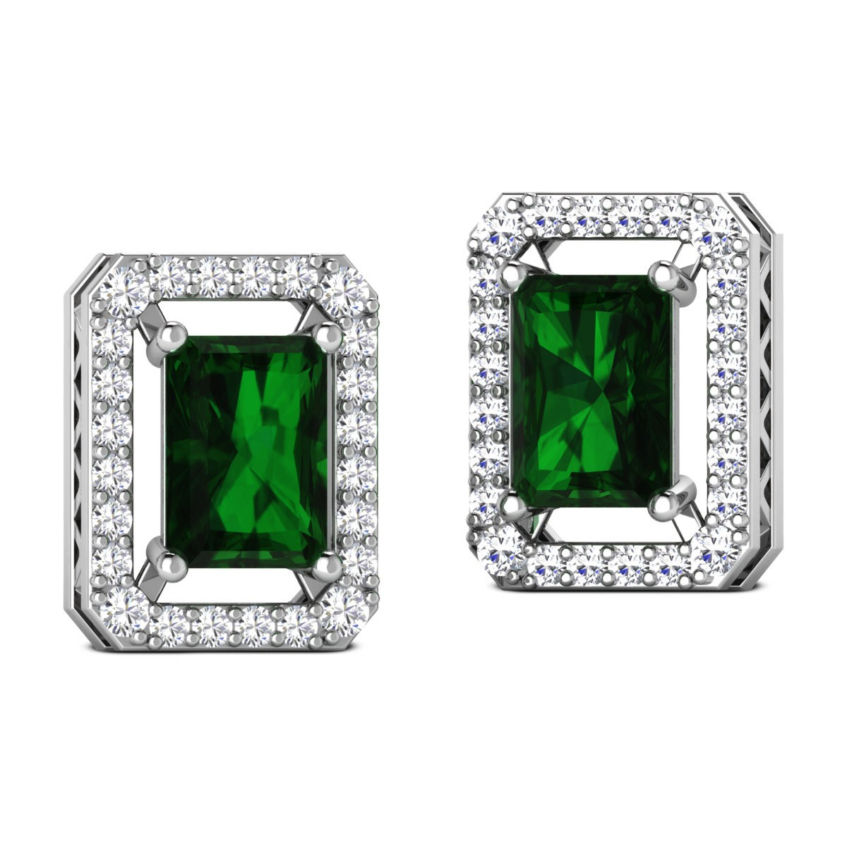 Chanasya Emerald Stud Earrings
