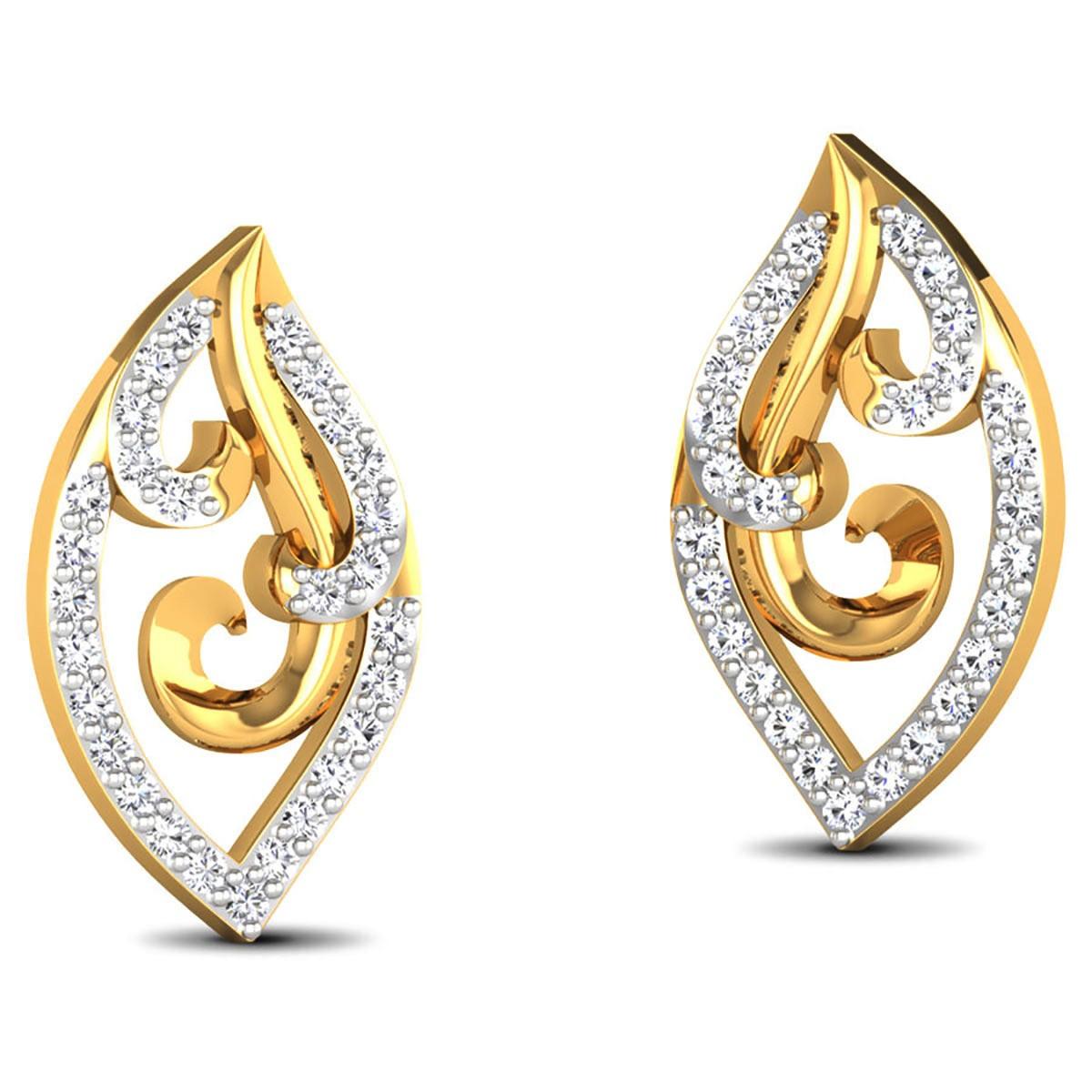 Deshna Diamond Stud Earrings