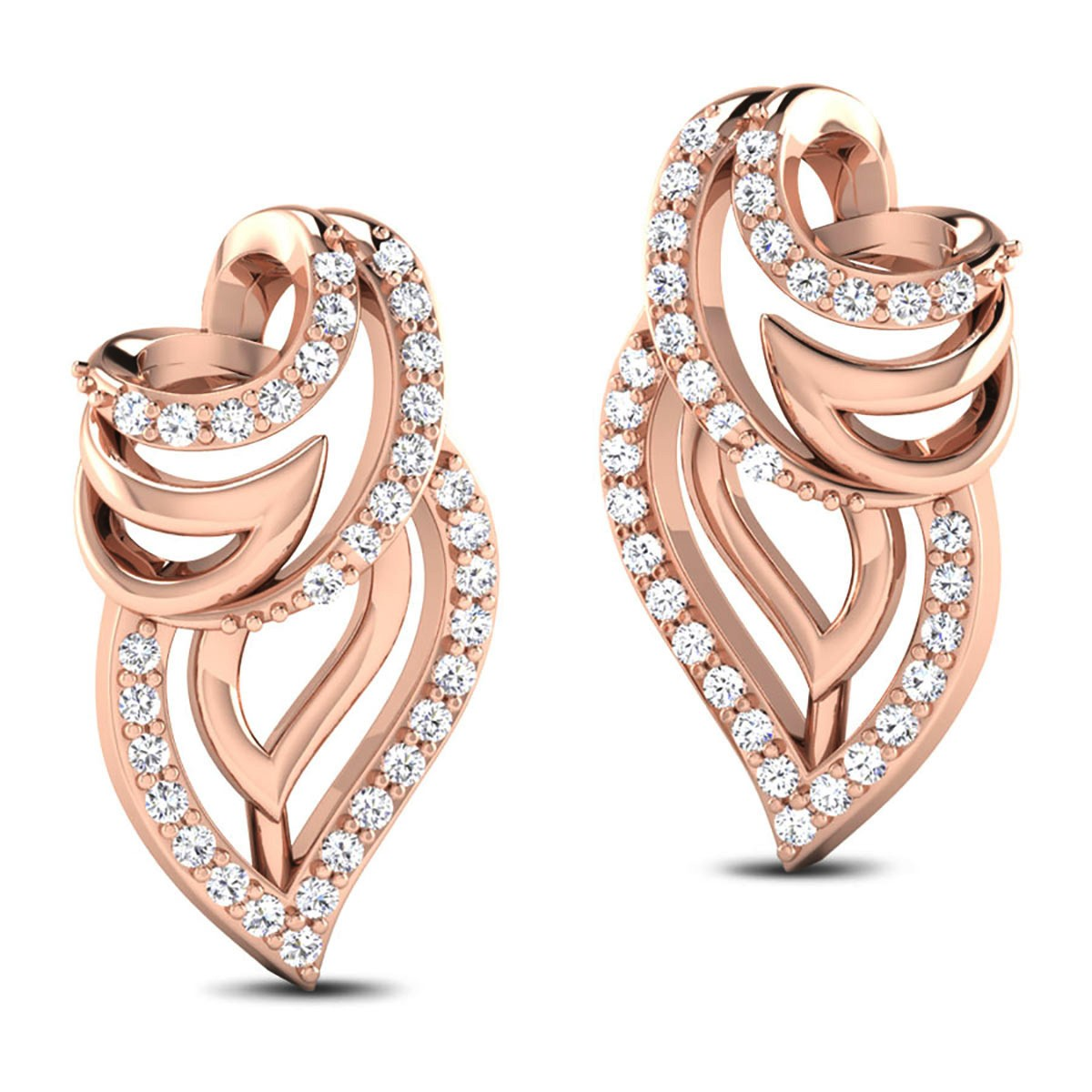 Chalith Diamond Stud Earrings