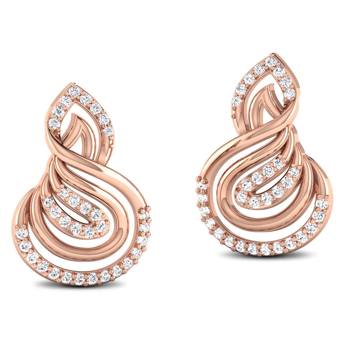 Chicha Diamond Stud Earrings