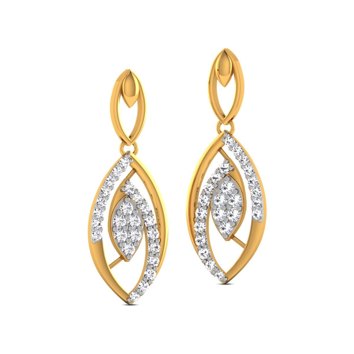 Dhanya Diamond Hanging Earrings
