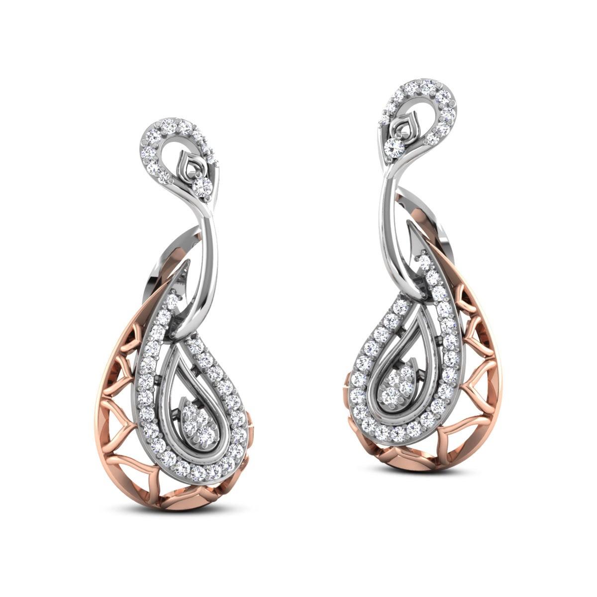 Chakshu Diamond Hanging Earrings