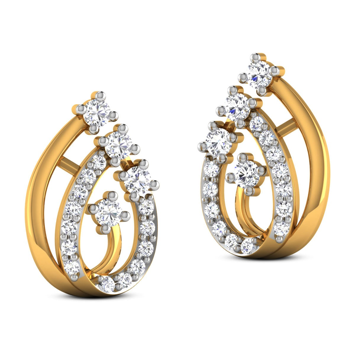 Chatima Diamond Stud Earrings