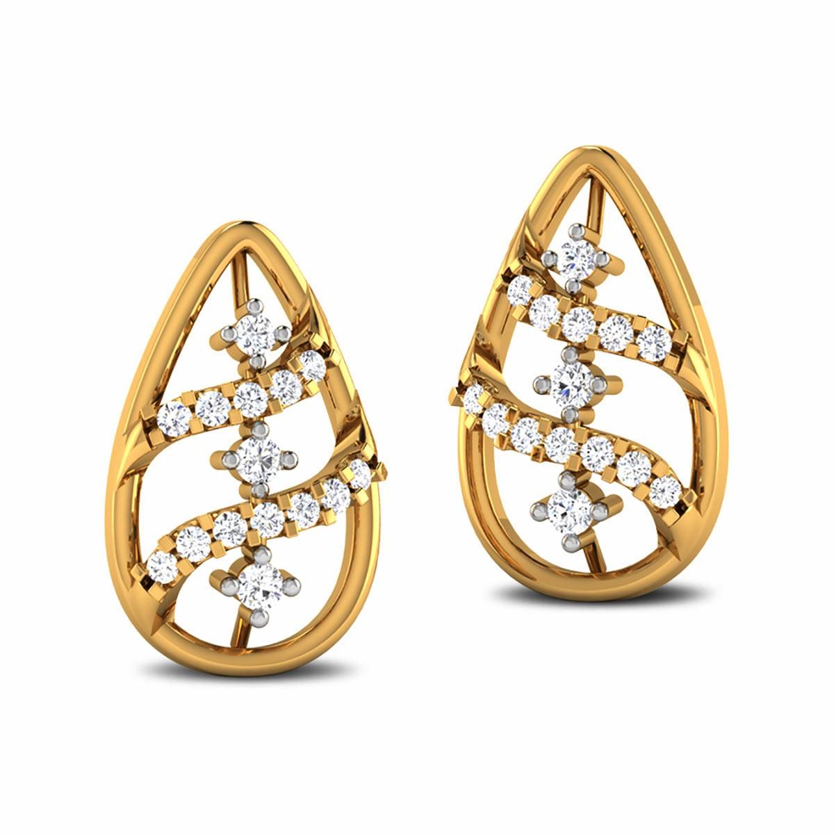 Chavi Diamond Stud Earrings